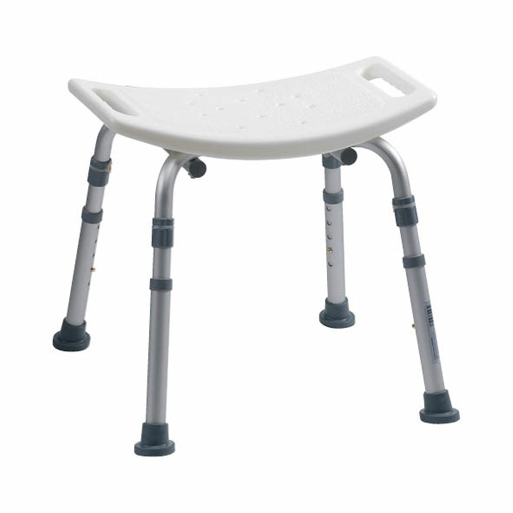 Adjustable height bath bench without backrest Bath bench