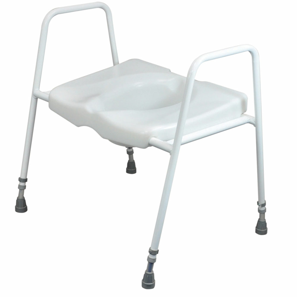 raised toilet seat on frame