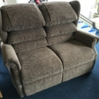 Electric Mobility Two Seat Sofa and Static Chair Waterfall Back in Kilburn Mink Chenille