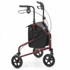 Days Lightweight Aluminium Tri Wheel Walker - Ruby Red 240LR