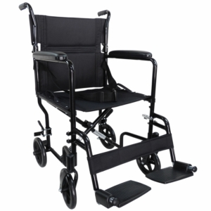 Aidapt Aluminium Compact Transport Wheelchair - Black