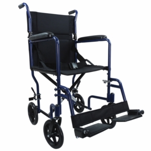 Aidapt Aluminium Compact Transport Wheelchair - Blue