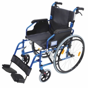 Aidapt Deluxe Lightweight Self Propelled Aluminium Wheelchair - Blue