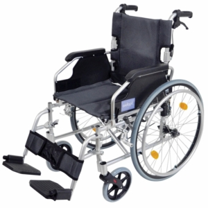 Aidapt Deluxe Lightweight Self Propelled Aluminium Wheelchair - Silver