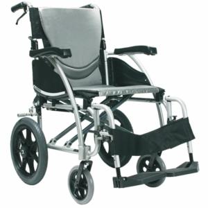 """Ergo 115 Transit Wheelchair Silver 16"""" x 17"""""""