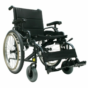 "Heavy Duty Self Propelled Wheelchair Black 20"" x 18"""