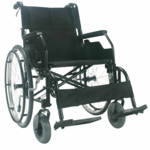 "Robin Self Propelled Wheelchair Black 16"" x 16"" swingway hangers"