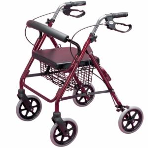 Homecraft Four Wheeled Rollator - Ruby