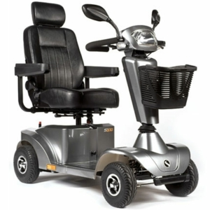 Millercare ST400 Compact Mobility Scooter - Silver Metallic