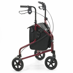 Days Lightweight Aluminium Tri Wheel Walker - Ruby Red 240LR