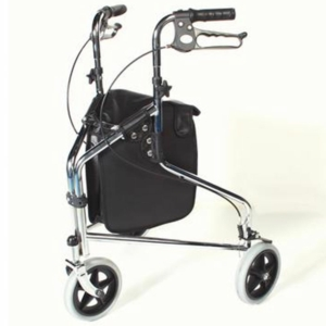Tri Wheel Walker With Loop Lockable Brakes - Chrome (240S)