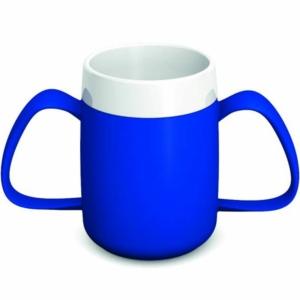 Ornamin Two Handled Mug + internal cone - 200ml - Blue/White