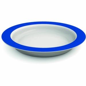 Ornamin Plate With Sloped Base - 26cm - Blue/White