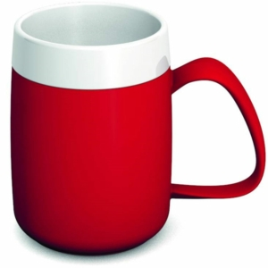 Ornamin One Handled Mug + internal cone - 200ml - Red/White