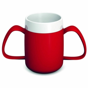 Ornamin Two Handled Mug + internal cone - 200ml - Red/White