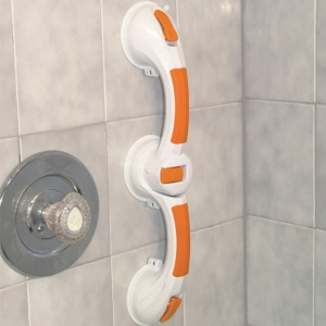 """Dual Rotating Suction Cup 12"""" Grab Bar with Indicator"""