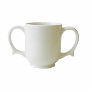 Two Handled Mug Dignity White