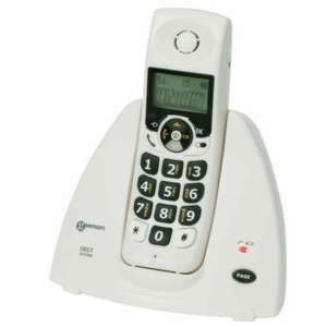 Geemarc Mydect 100 White Cordless Phone