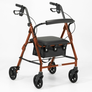 Days 100 Series Lightweight Rollator All Sizes - Russet Orange