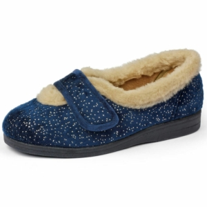 Sandpiper Ladies Slippers - Selina Navy.Sparkle