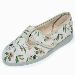 Sandpiper Ladies Slippers - Tracy Bge.Floral