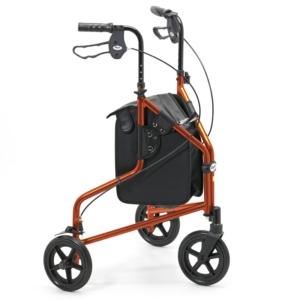 Days Lightweight Aluminium Tri Wheel Walker - Russet Orange - 240LRO